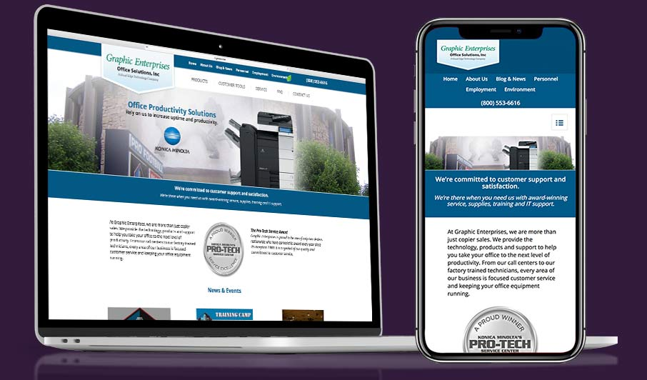 Cleveland web design company example