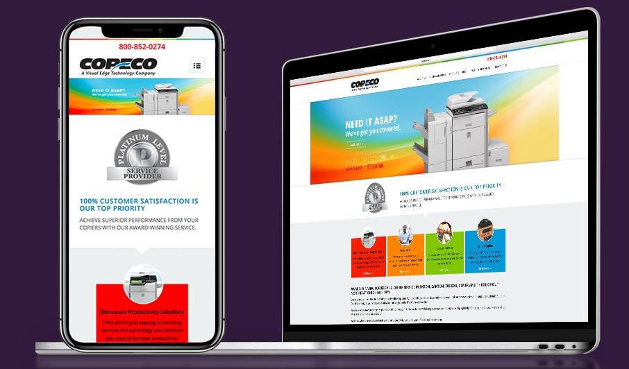Cleveland website design sample of graphic designer
