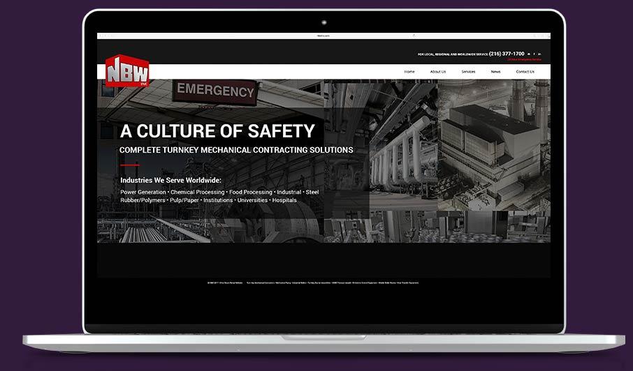 manufacturing web design example